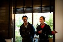 じゃがいも農家の坂東さん(左)と菜種油を作っている佐藤さん(右)が、十勝の農業のお話をしてくれました。