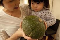 吉田農場さんのかぼちゃ。「おっきぃね~」